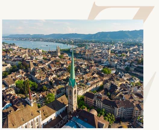 Escort Stadt Zürich von oben