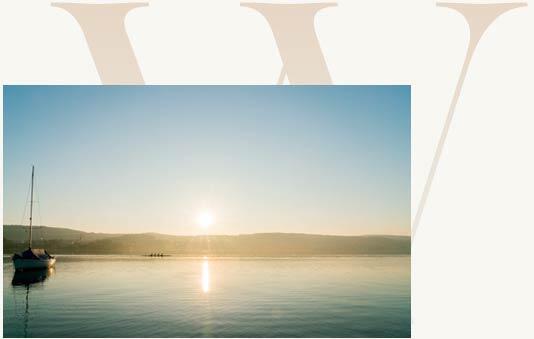 Romantischer Sonneruntergang in Zürich